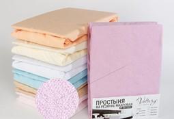 Простынь на резинке махровая (PM фиолетовая)