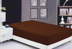 Простынь на резинке Софткоттон шоколадная (PRMF-5)