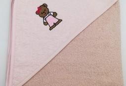 Уголок дет. махровый с вышивкой Медвежонок (бежевый)