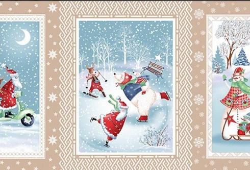 Набор Полотенец ваф. Санта Клаус вид-2